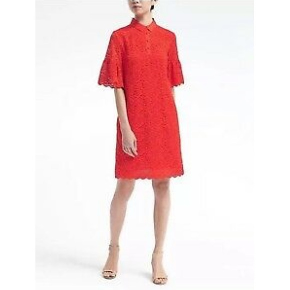 Banana Republic Dresses & Skirts - Banana Republic Flutter Sleeve Cocktail Dress